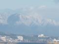 雪化粧したびわ湖バレイ蓬莱山