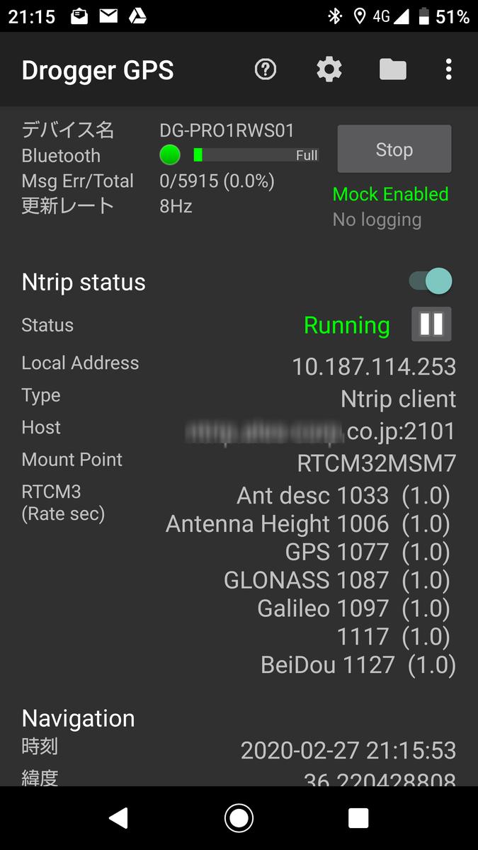 DG-PRO1RWS Softbank 位置測位サービス「ichimill」を使う
