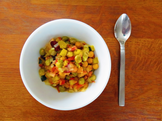 食物繊維たっぷりのお豆サラダ