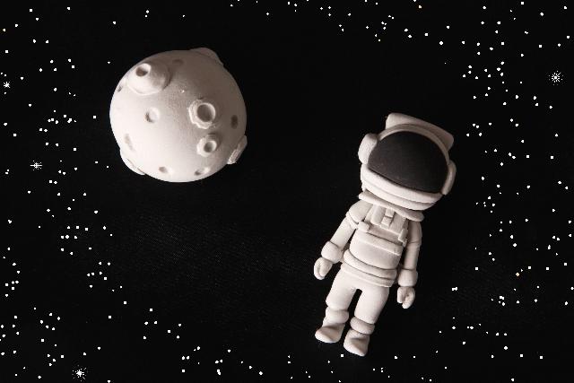 宇宙遊泳の風景