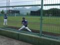 [野球]ウエスタンリーグ 佐伯総合スポーツ公園 ブルペンの清水昭投手