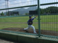 [野球]ウエスタンリーグ 佐伯総合スポーツ公園 ブルペンの長峰投手