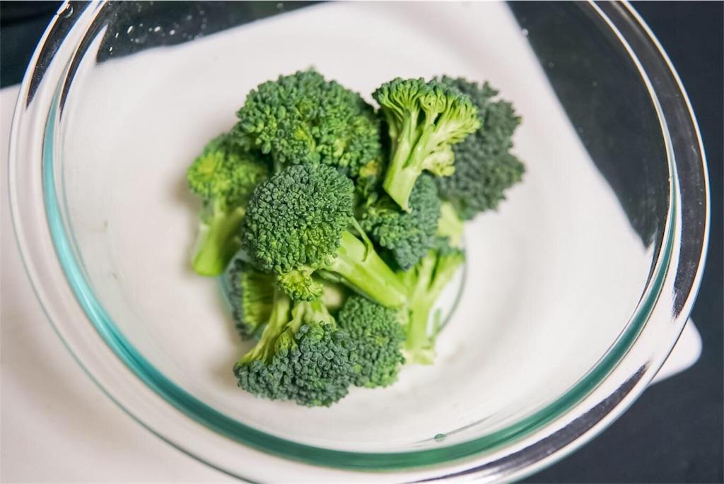 食べやすい大きさに切ったブロッコリー