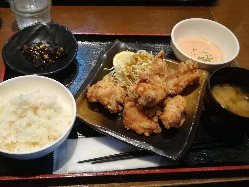 川崎鶏唐揚定食 スパイシーオーロラソース(並盛)
