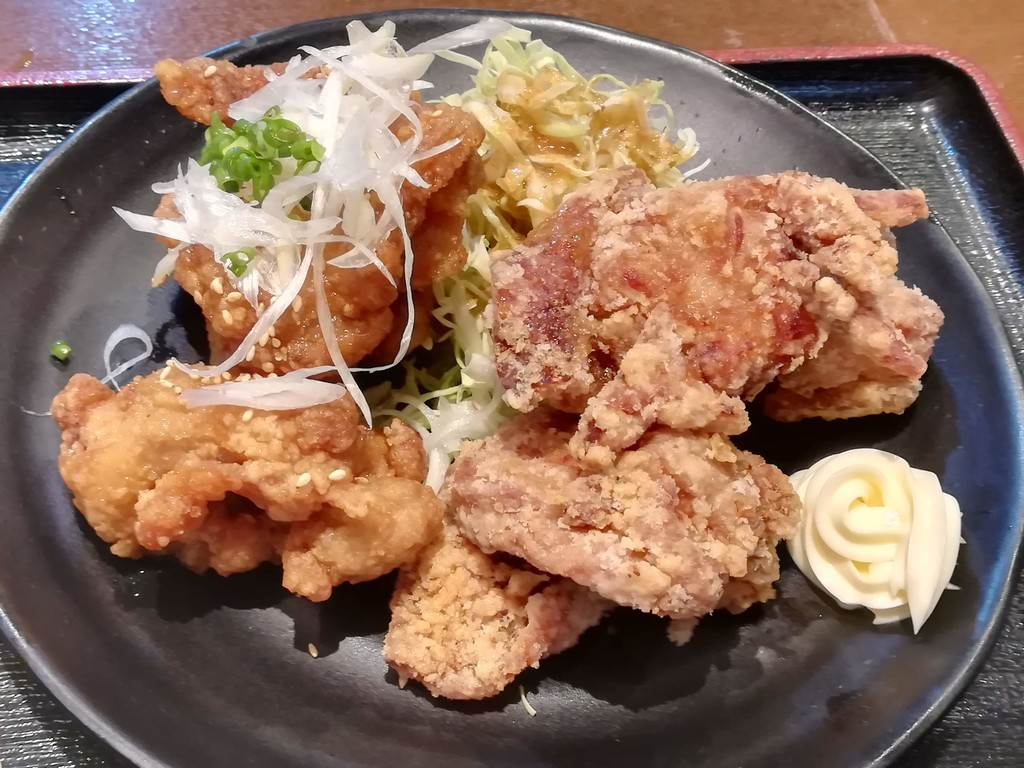 川崎鶏唐揚定食 醤油&甘だれ(大盛:6個)アップ