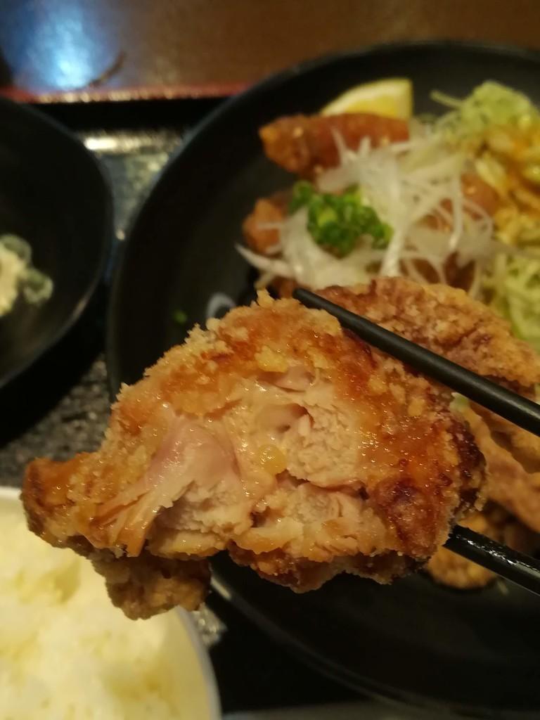 川崎鶏唐揚定食 醤油からあげ 美味しい