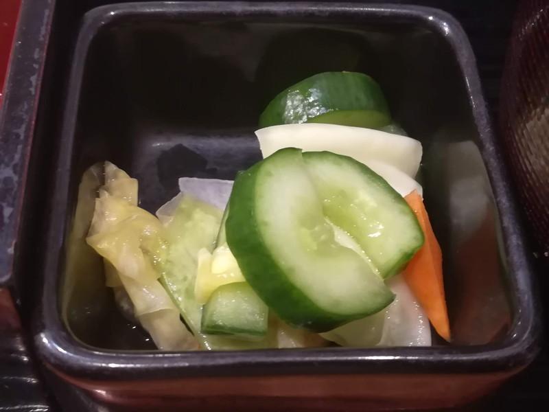 方舟 川崎ラチッタデッラ店 本日のお魚ご膳(漬物)