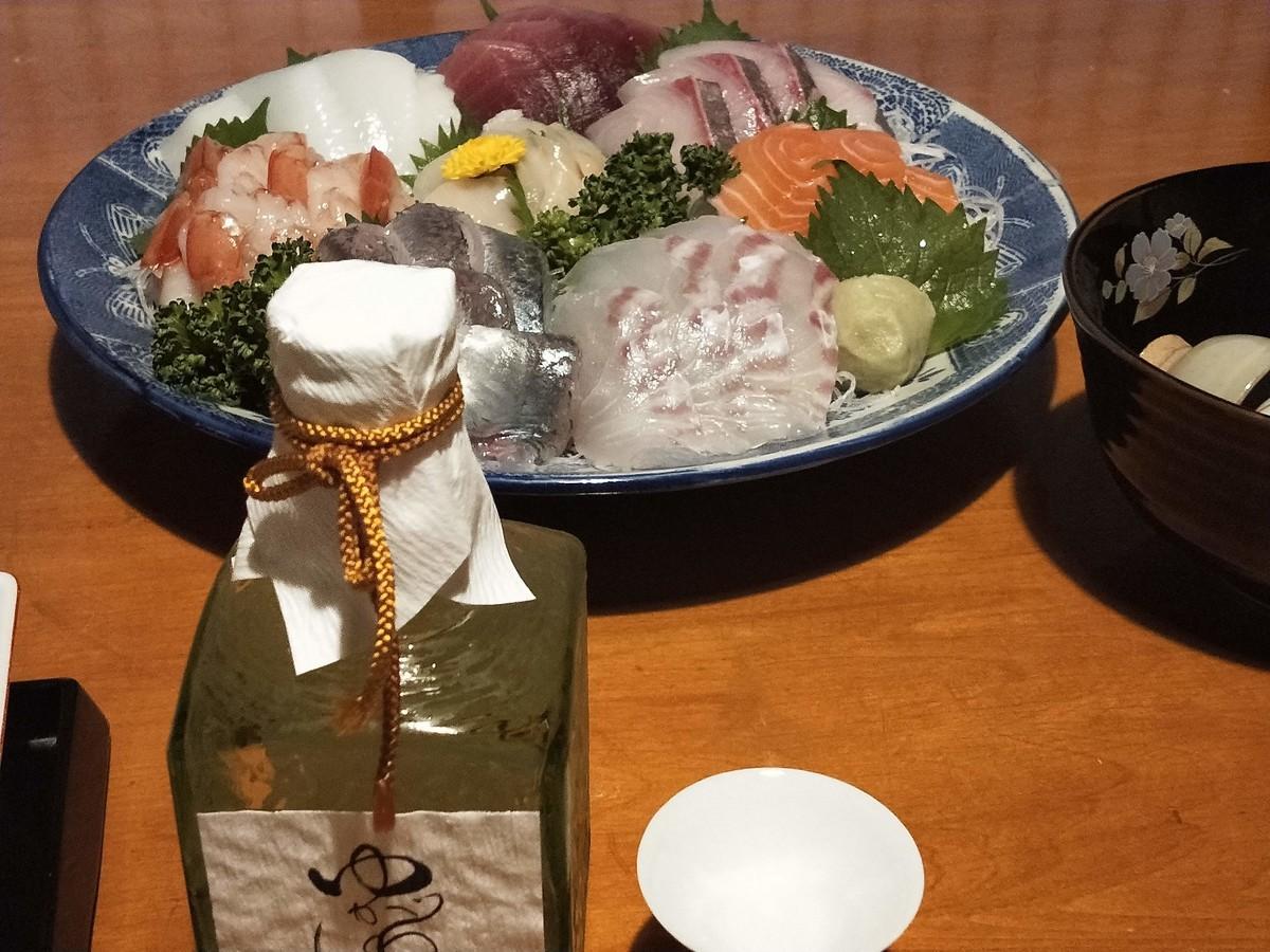 湯河原の清光園の晩御飯! 日本酒を添えて