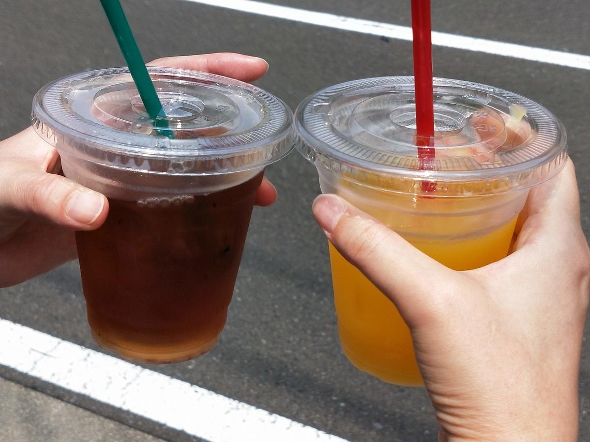 湯河原の峠の茶屋的な場所で飲み物ゲット(1杯500円)