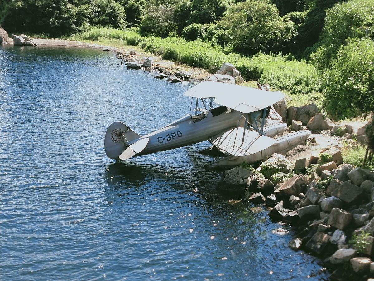 ディズニーシー! インディージョーンズの飛行機