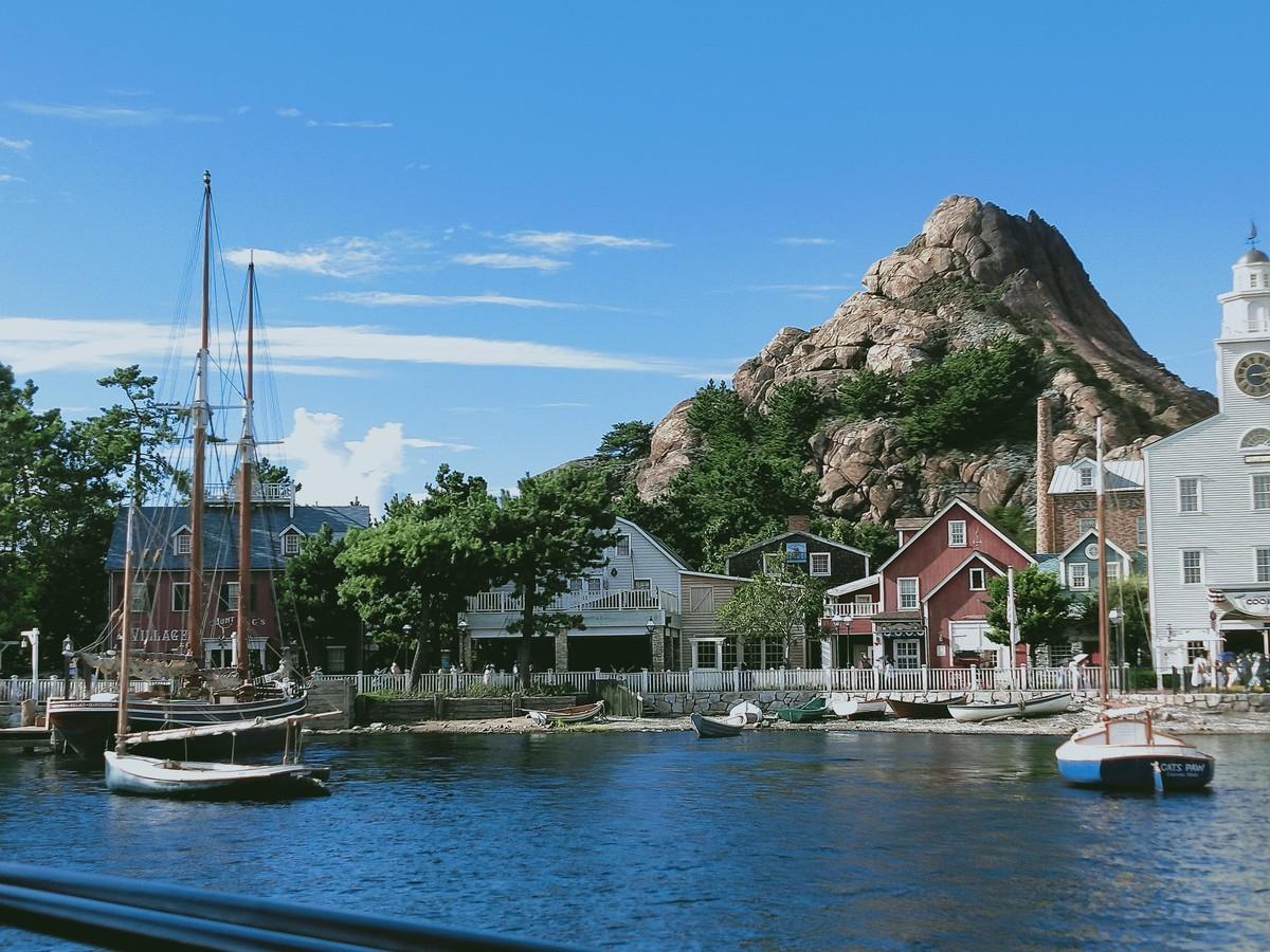ディズニーシーの遊覧船で見た風景