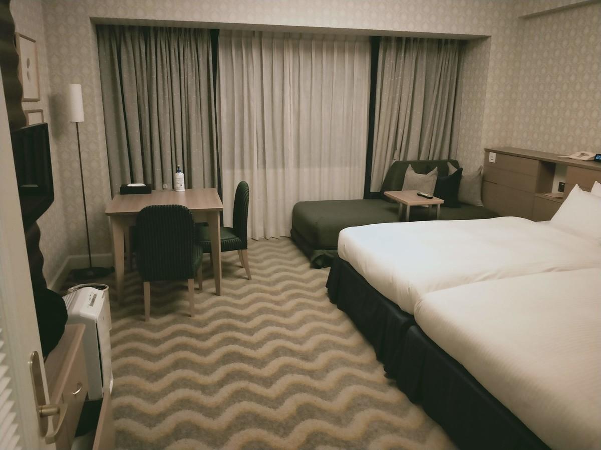 ホテルオークラ東京ベイの客室・広い!