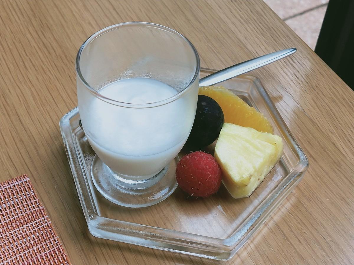 ホテルオークラ東京ベイのモーニング! 朝ごはんのヨーグルトです