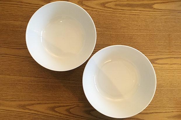 白磁の麺鉢|上から