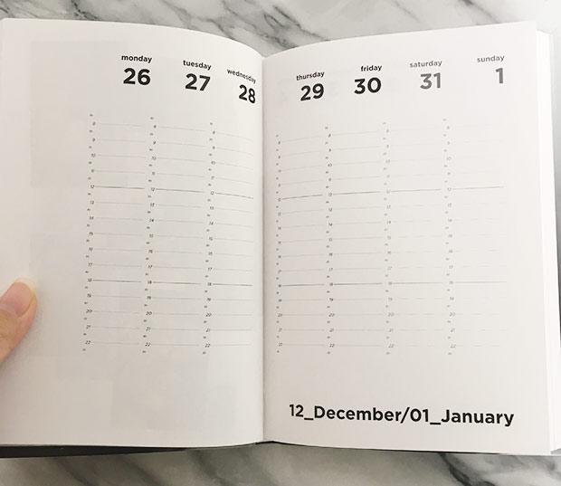 MM6 手帳 月ごと