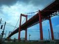 [北九州]若戸大橋。戸畑渡場バス停より