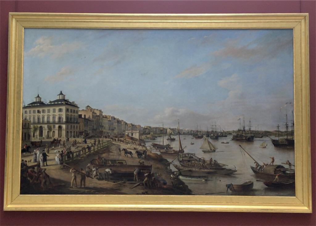 Vue d'une partie du port et des quais de Bordeaux dits des Chartrons et de Bacalan