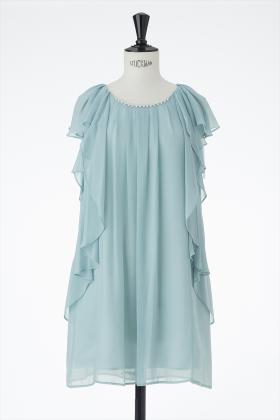 シフォンパール付きドレス(グリーン)_1