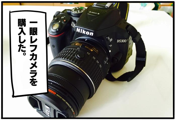 一眼レフカメラを購入した。