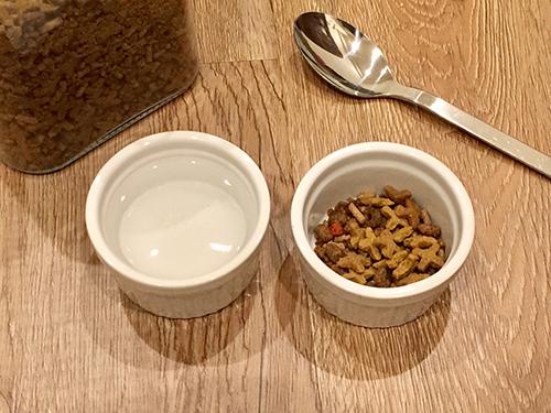 ハリネズミの餌入れにはココット皿