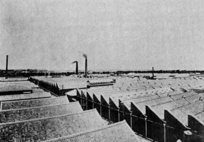 大正時代の東洋紡績株式会社知多分工場