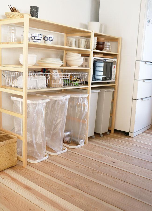 キッチンで活躍する無印良品の商品たち