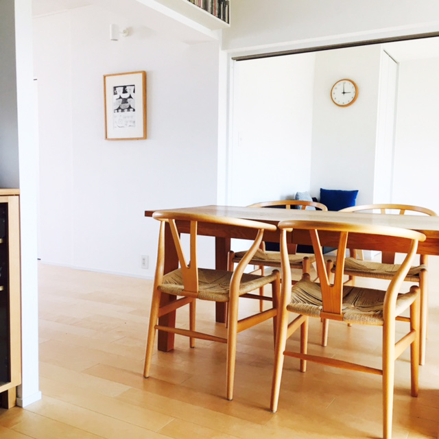 ワイチェアは、他の家具との相性もバッチリ
