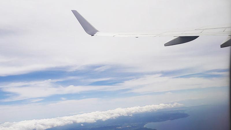 羽田空港から飛行機に乗って、