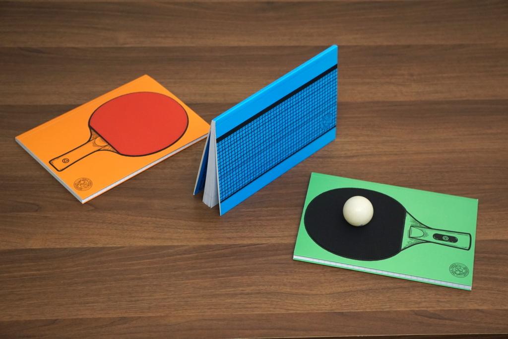 テーブルテニスノートブック