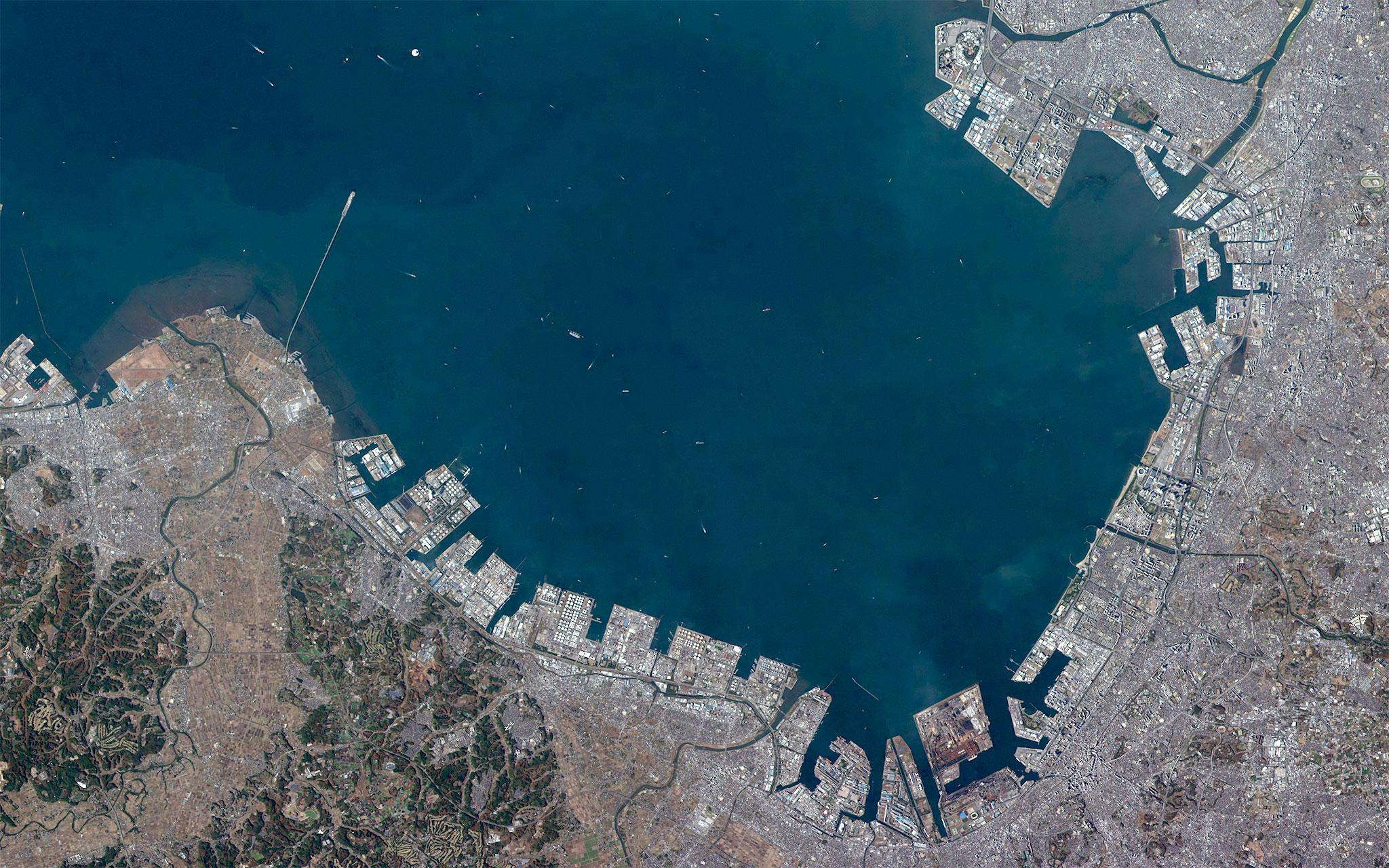 人工衛星「ほどよし1号」が撮影した千葉県