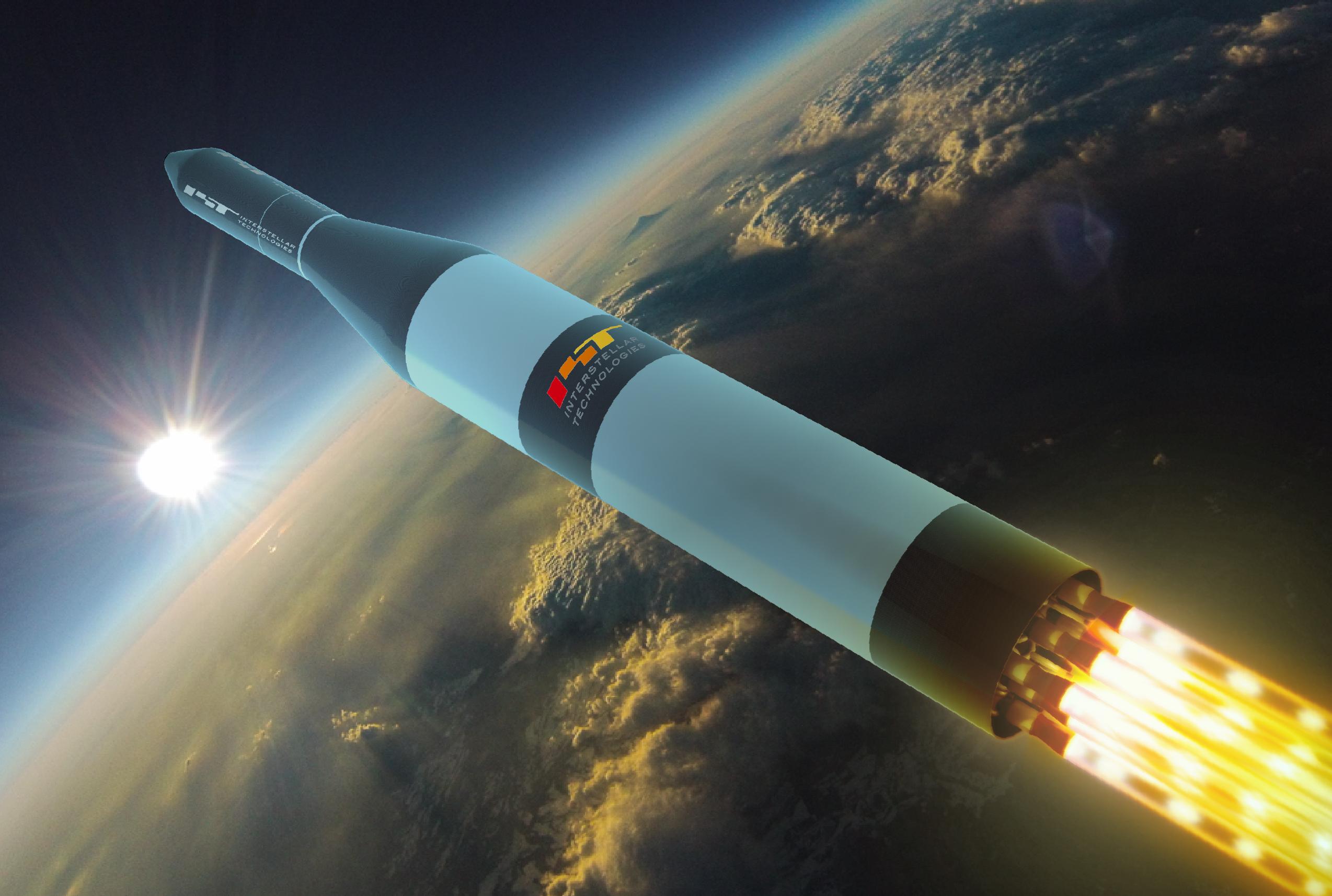 軌道投入ロケット(CGイメージ)