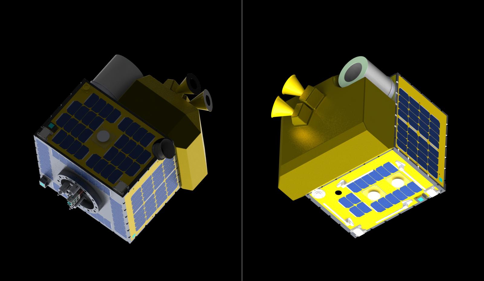 ALEが打ち上げる人工衛星(CG)