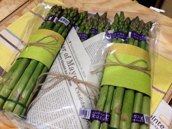 長野の野菜を売る