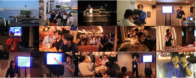 2010年8月、初めてLTを行った船上パーティーの様子