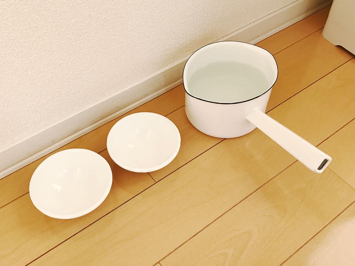 野田琺瑯のミルクパン(NOMAKUシリーズ)&ボール