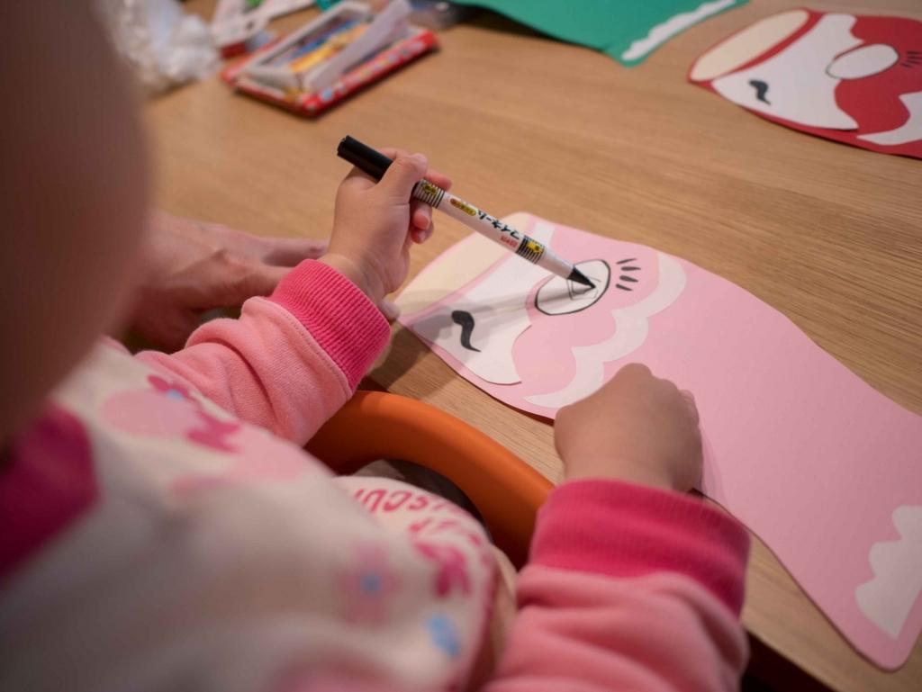 子どもの日に向けて「絵」を書こう