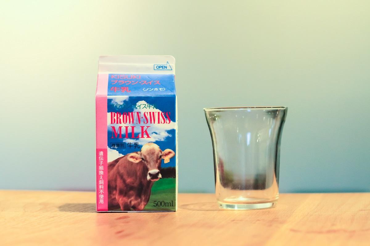 木次ブラウンスイス牛乳