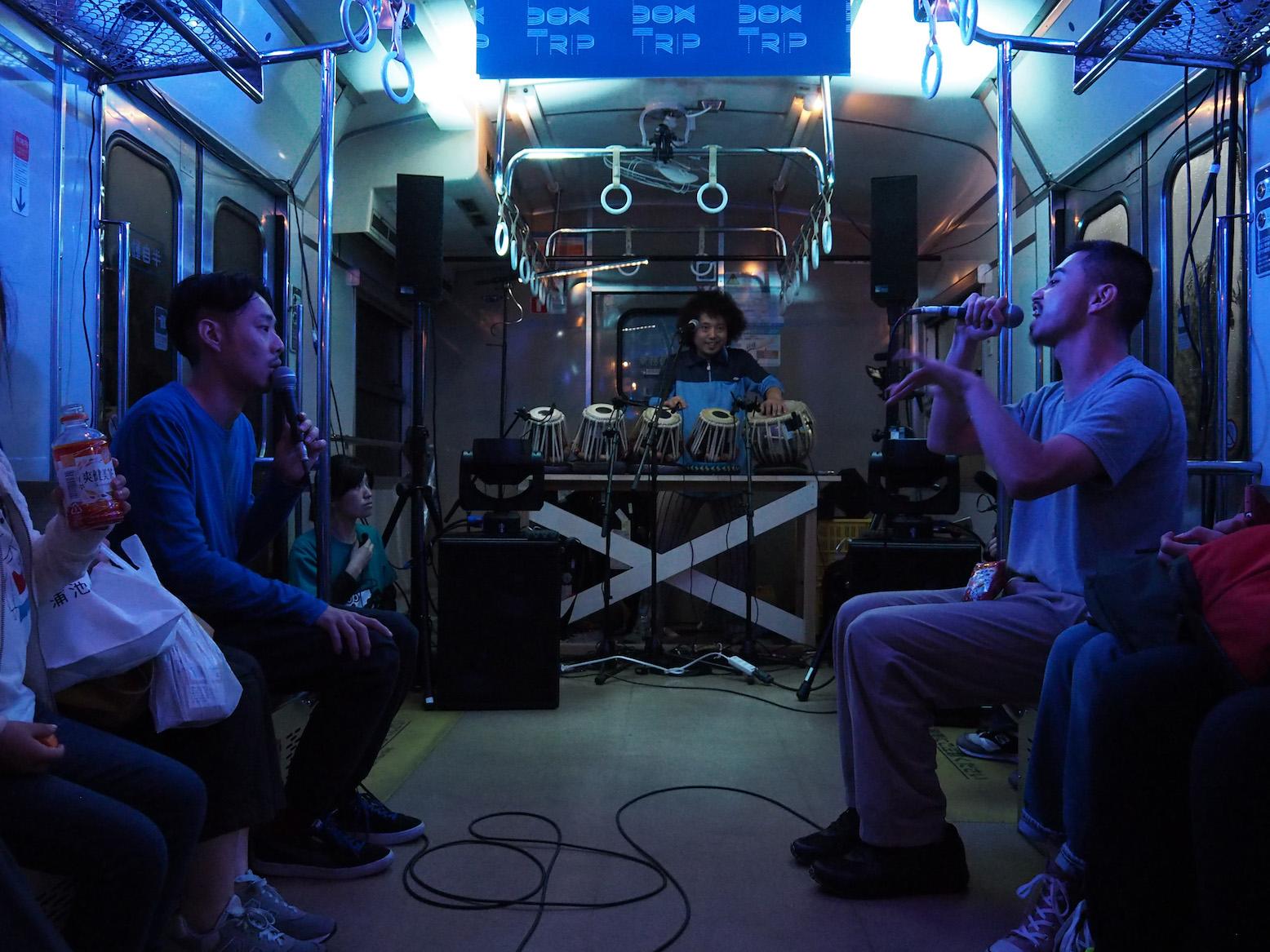 JR西日本・山口線車内で行われたライブ・パフォーマンス『Boombox TRIP』