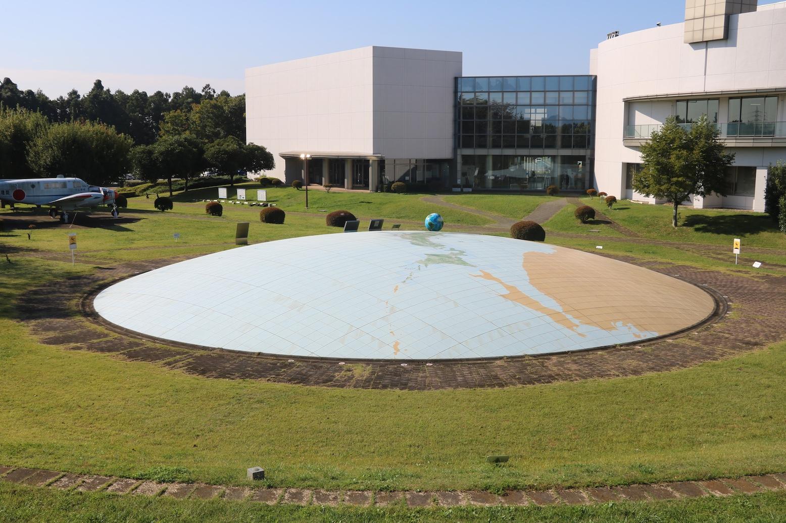 「地図と測量の科学館」地球広場