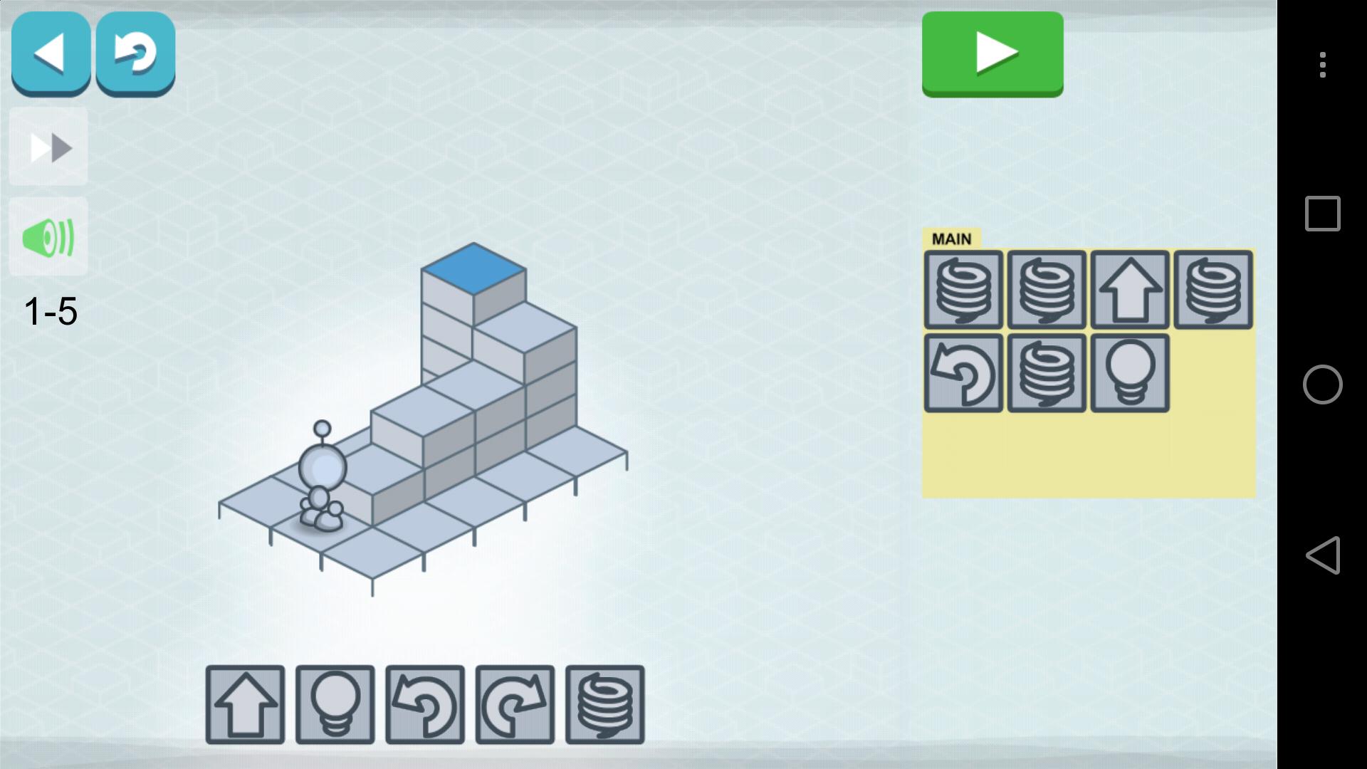 コマンドブロックを並べてロボットの動きをプログラミングする