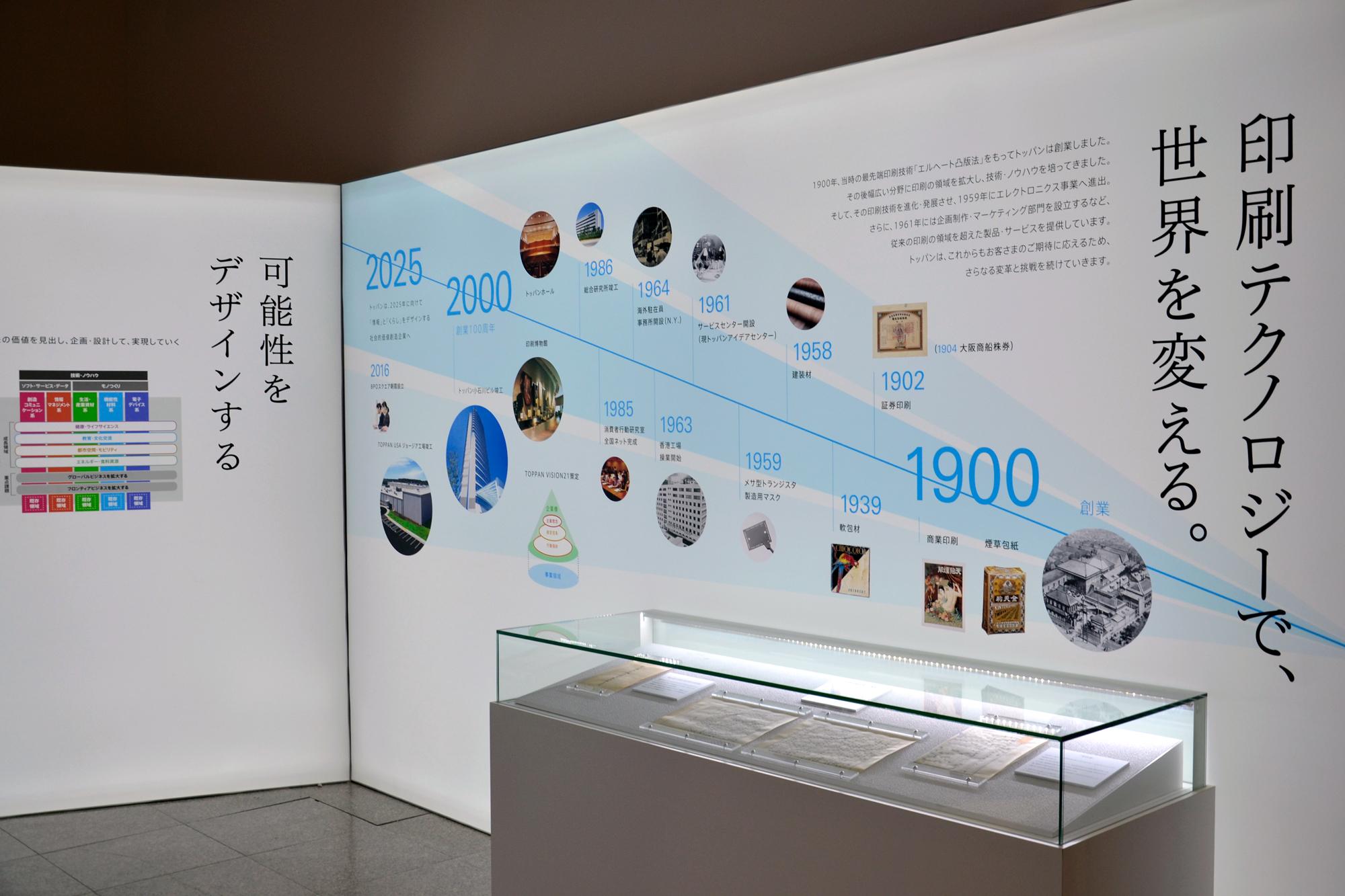 トッパン小石川ビル内の凸版印刷ショールーム