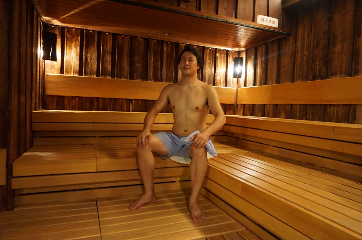 大阪、梅田にあるサウナ&カプセルホテル「大東洋」のサウナ