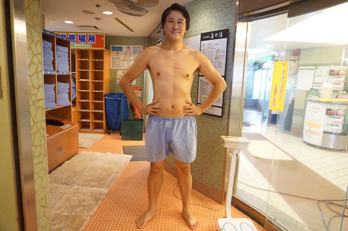 大阪、梅田にあるサウナ&カプセルホテル「大東洋」、サウナパンツ