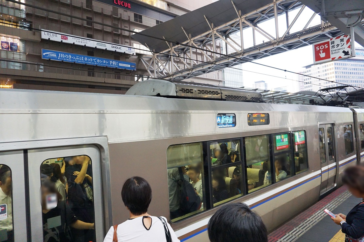 京都→大阪→神戸を結ぶ、在来線の新快速