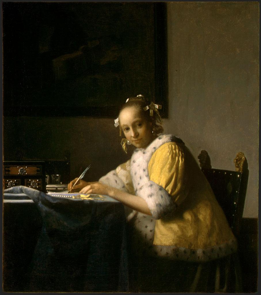 フェルメール「手紙を書く女」