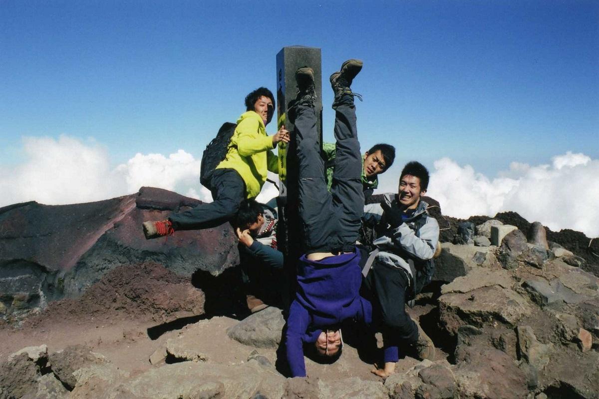 クライマー・植田幹也。大学では富士山の登山ガイドのアルバイトをしていた