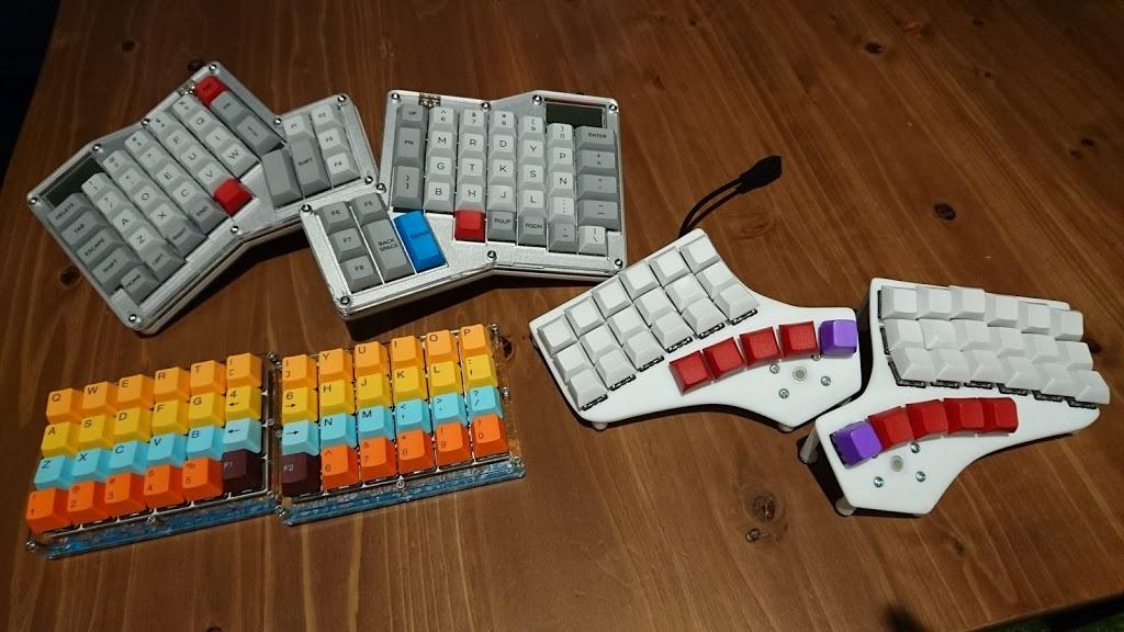 自作キーボード。 物理配列が選べる
