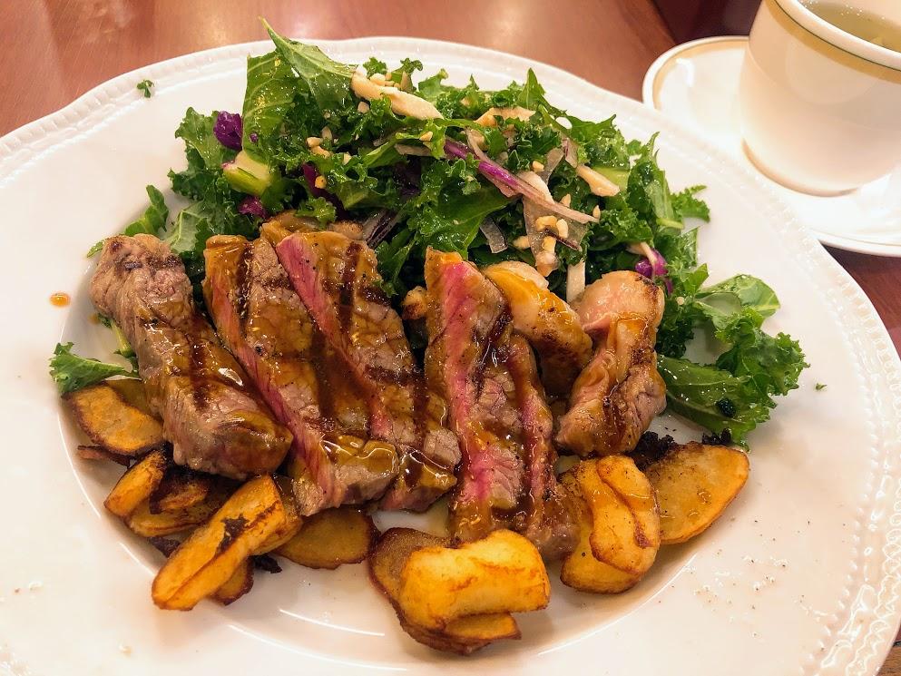 たんぱく質と野菜が中心のメニュー