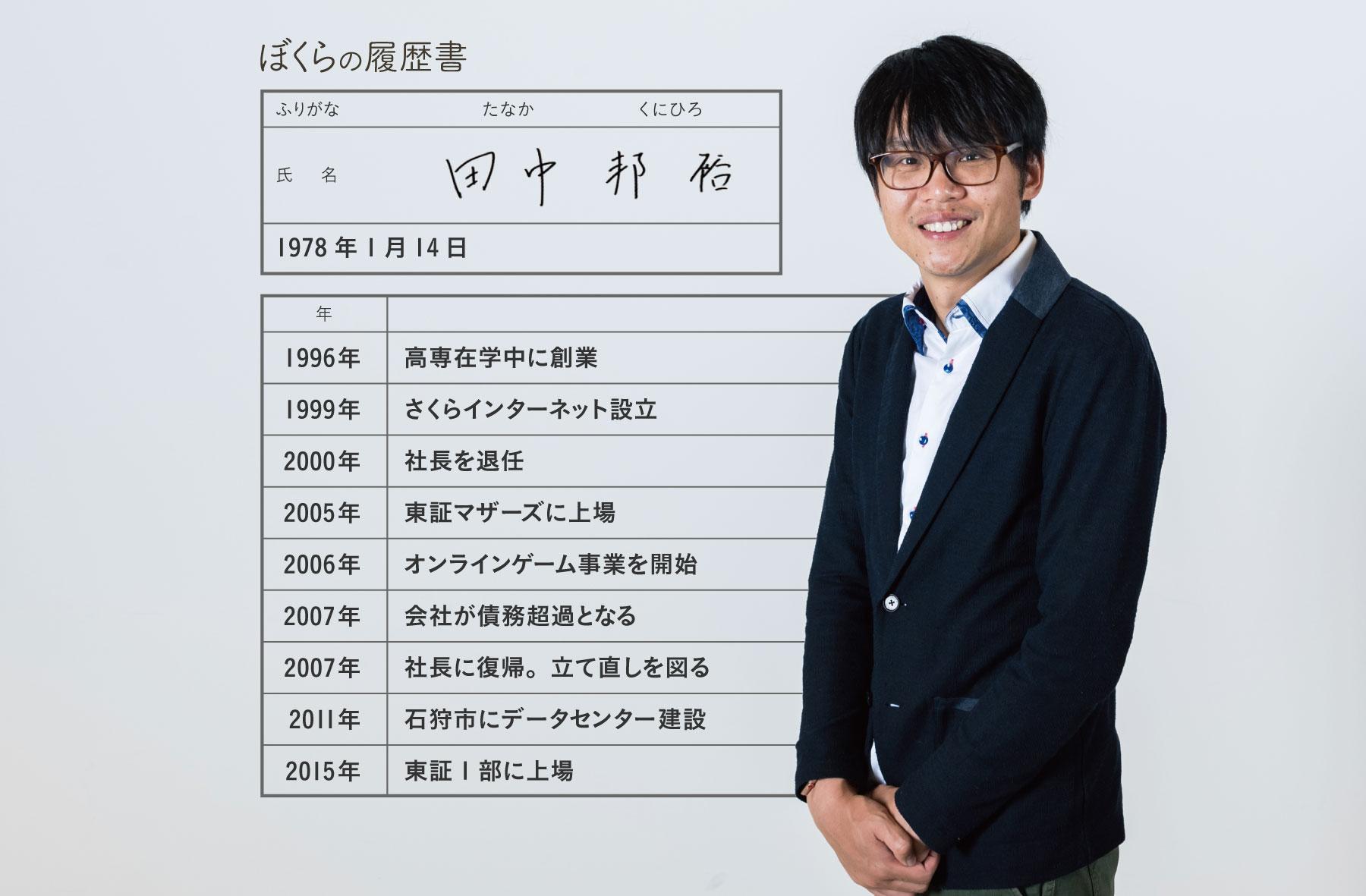 さくらインターネット田中邦裕さん履歴書