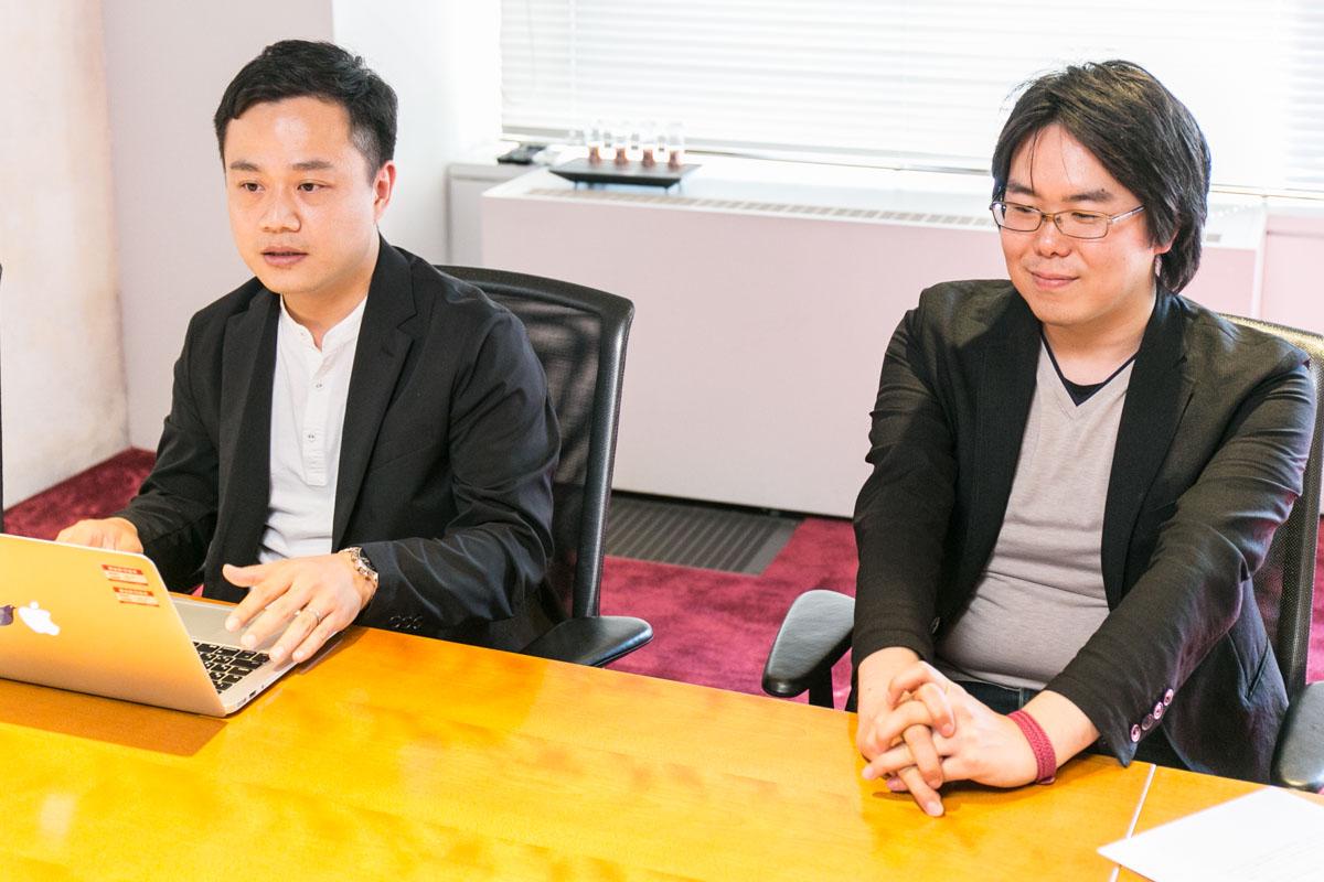 SHIFT社佐藤さんと谷岡さんの笑顔